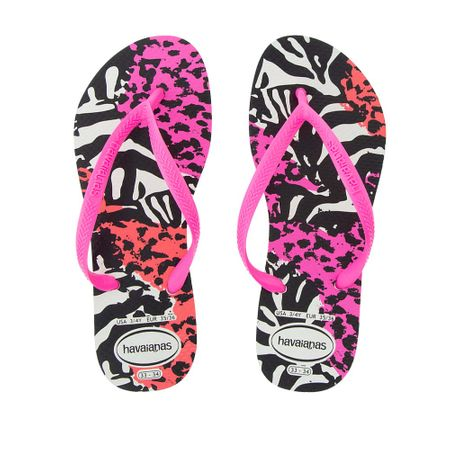 Chinelo Havaianas Slim Animals Rosa