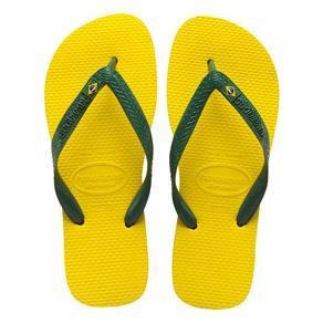 Chinelo Havaianas Unissex Brasil - Amarelo Cítrico - Tamanho 33/34 - Amarelo Cítrico
