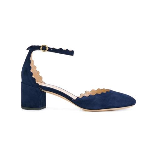 Chloé Sapato 'Lauren' de Camurça - Azul