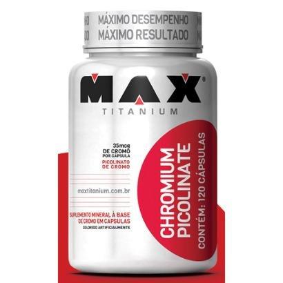 Chromium Picolinato 120 Cáps - Max Titanium