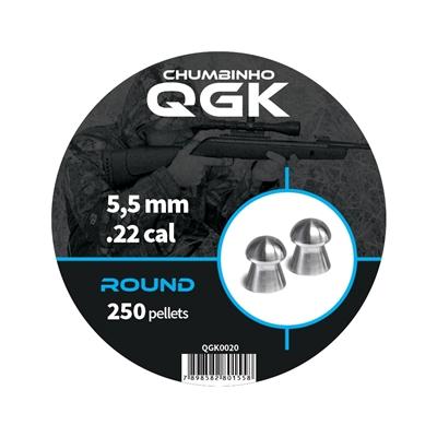 Tudo sobre 'Chumbinho Qgk Round 5,5Mm - 250 Unidades'