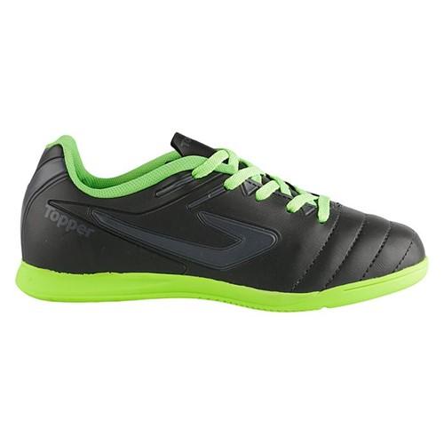 Tudo sobre 'Chuteira Topper Boleiro Futsal Inf - Preto/Chumbo/Verde Neon - 28'