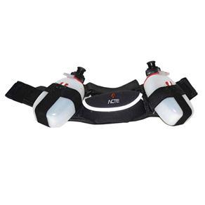 Cinturão de Hidratação Acte Sports com 2 Garrafas C8 - Preto/Prata