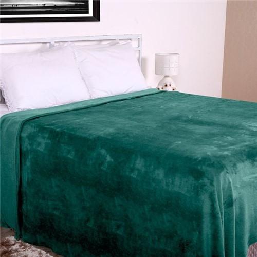 Cobertor Casal Microfibra Home Design Corttex Esmeralda Esmeralda