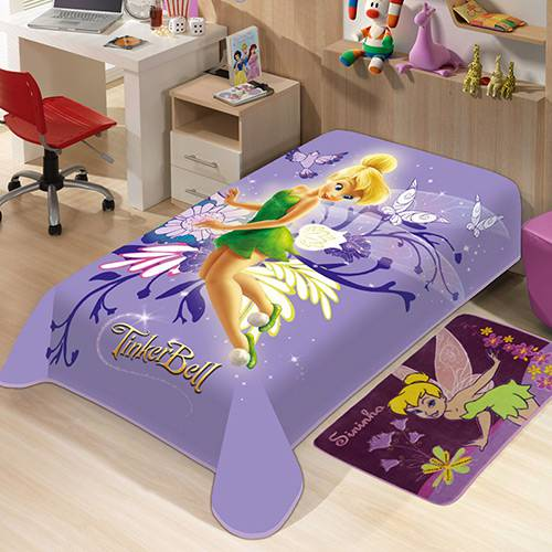 Tudo sobre 'Cobertor Juvenil Disney Sininho Jolitex Ternille Lilás'
