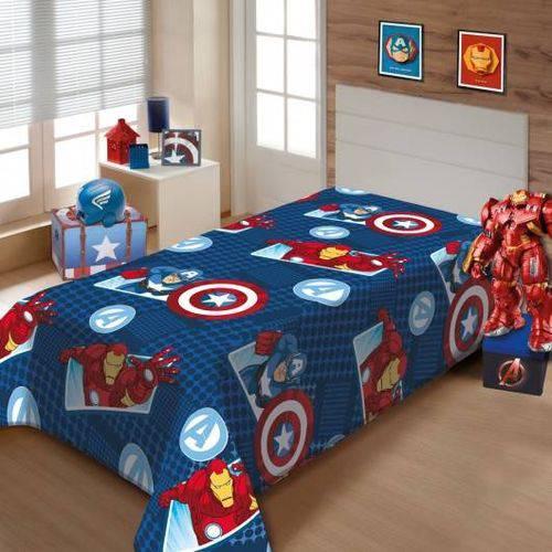 Tudo sobre 'Cobertor Manta Solteiro Infantil Vingadores Soft Jolitex'