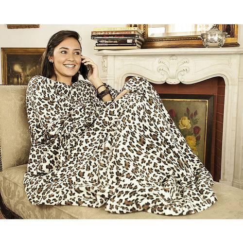 Tudo sobre 'Cobertor Tv com Mangas 1.60x1.30m - Leopardo'