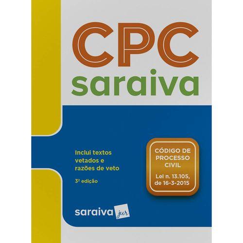 Código de Processo Civil - Legislação Saraiva de Bolso - 3ª Ed.