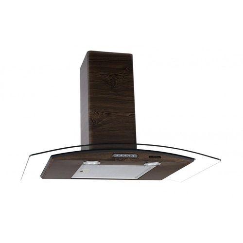 Coifa de Parede 80cm Vidro Curvo Slim Nardelli Wood com Nogueira - 220v