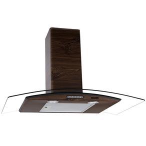 Coifa de Parede - 90cm Vidro Curvo Slim - 110V