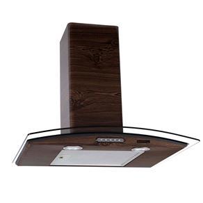 Coifa de Parede Nardelli Vidro Curvo Slim Wood Nogueira – 60cm - 127V