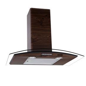 Coifa de Parede Nardelli Vidro Curvo Slim Wood Nogueira – 70cm - 127V