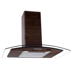Coifa de Parede Nardelli Vidro Curvo Slim Wood Nogueira – 75cm - 127V