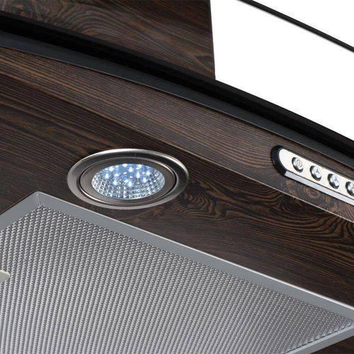 Coifa de Parede Vidro Curvo Slim Wood Color Nog 60 Cm 220v - Nardelli