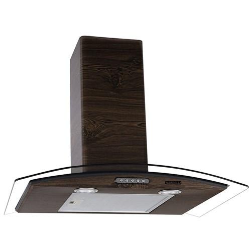 Coifa de Parede Vidro Curvo Slim Wood Color Nog 70Cm Nardelli - 220V