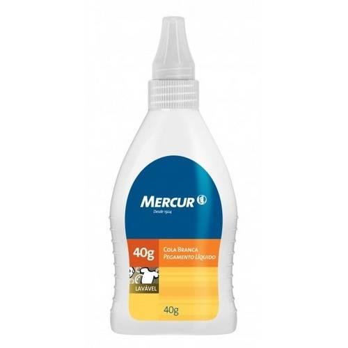 Cola Branca Lavável 40g - Mercur
