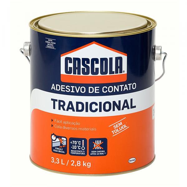 Cola Contato Tradicional Sem Toluol 2,8 Kg Cascola - Henkel
