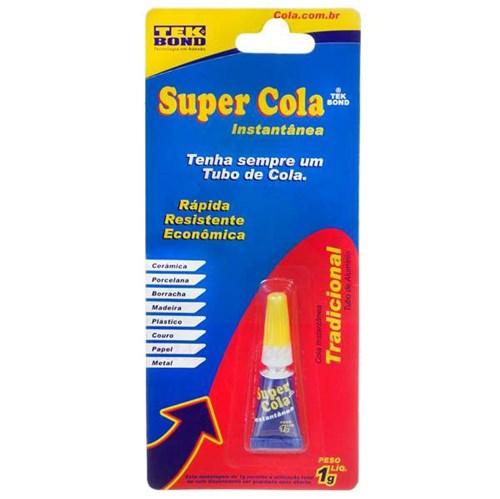 Cola Instantânea Super Cola Tekbond 1g