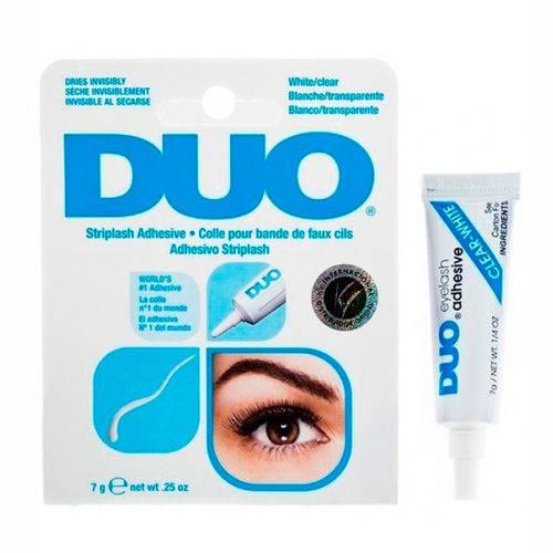 Cola para Cílios Duo Branca Transparente Eyelash Adhesive Clear-white