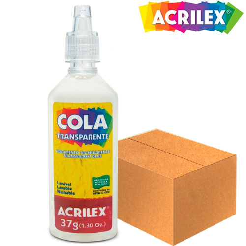 Cola Transparente 37g 19937 - 108 Unidades - Acrilex