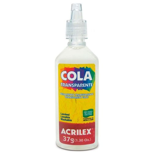 Cola Transparente Acrilex 37g Bico Fino 19937 14248