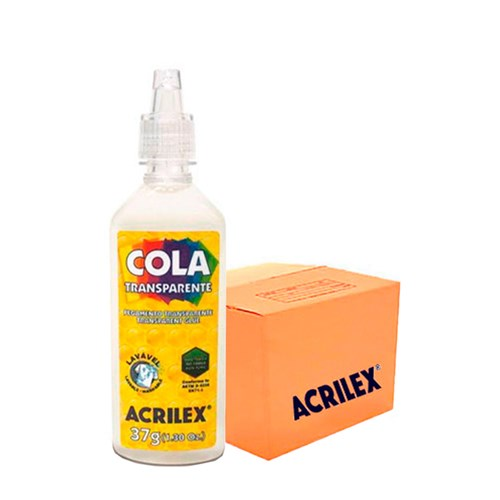 Cola Transparente Acrilex 37G com 24 Unidades