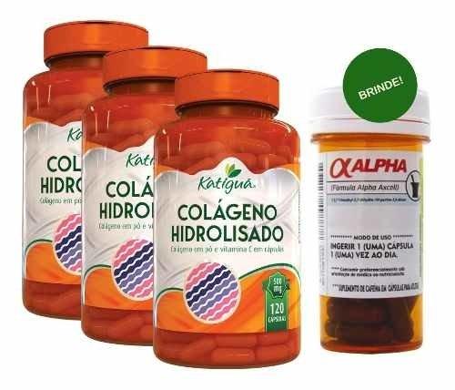 Colágeno Hidrolisado e Vitamina C 500Mg 3X120 Cáps + Brinde (Natural)
