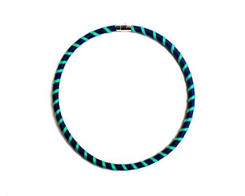Colar Espiral Azul Marinho e Verde