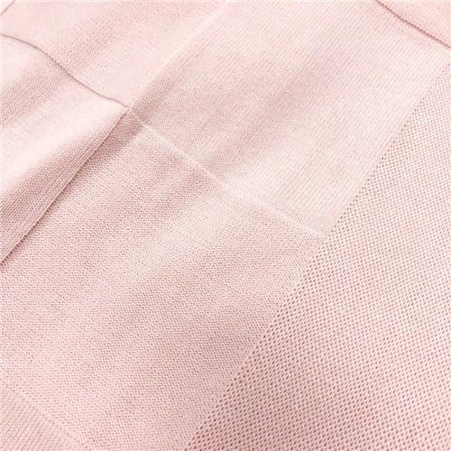 Colcha de Tricot para Berço Rosa