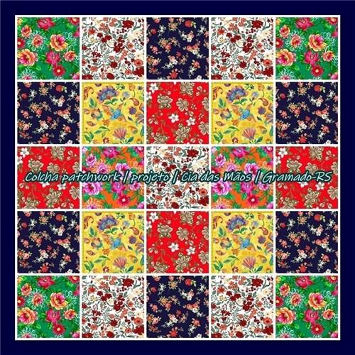 Colcha Patchwork | Projeto Floral (solteiro)