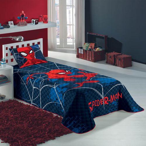 Colcha Solteiro Infantil Lepper Spiderman Matelassê