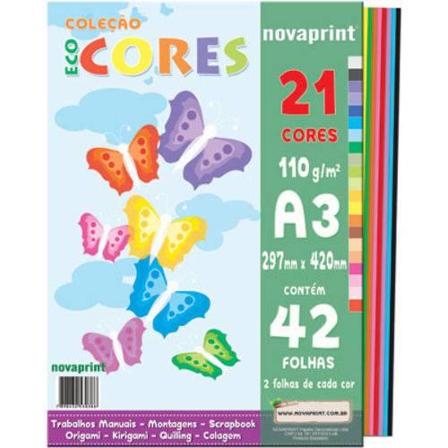 Tudo sobre 'Coleção Ecocores 42fls. 21cores A3 Novaprint'