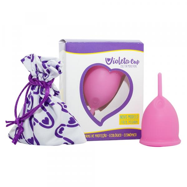 Coletor Menstrual Violeta Cup - Rosa Tipo a