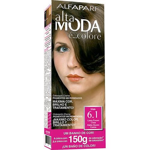 Coloração Altamoda E' Colore Louro Escuro Cinza 6.1 150g