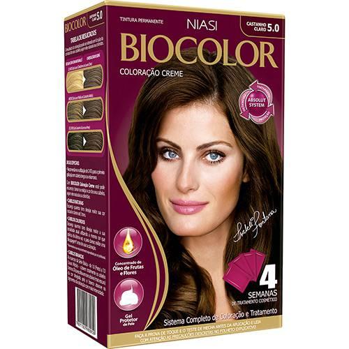 Tudo sobre 'Coloração Biocolor Kit Castanho Claro 5.0 239g'
