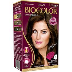Coloração Biocolor Kit Castanho Claro 5.0 239g
