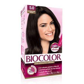 Coloração Creme Biocolor Kit Beleza Absoluta Castanho Claro Luxuoso 5.0