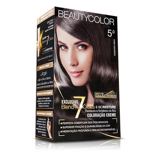 Coloração Creme Castanho Claro 5.0 - Beautycolor