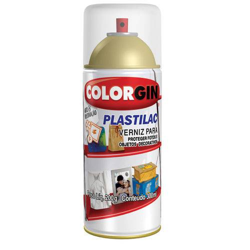 Colorgin Verniz Plastilac Fosco 300ML Incolor Spray