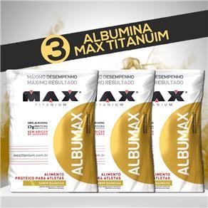 Combão 3 Albumax - Max Titanium - Morango