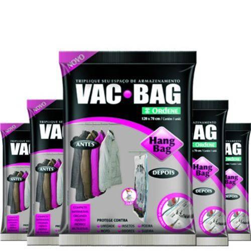 Tudo sobre 'Combo: 5 Saco a Vácuo C/ Cabide Vac Hang Bag 70 X 120 Ordene'