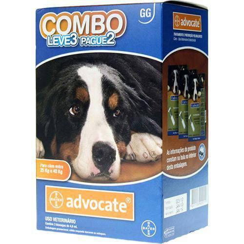 Tudo sobre 'Combo Advocate para Cães GG (25 a 40kg)'