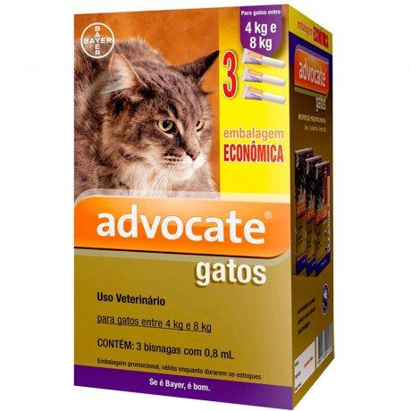 Combo Antiparasitário Advocate para Gatos 4 a 8kg
