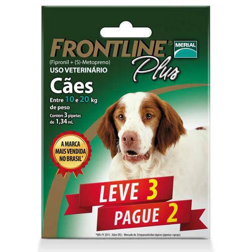 Tudo sobre 'Combo Leve 3 Pague 2 - Frontline Plus para Cães de 10 a 20kg'