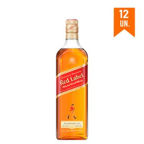 COMBO WHISKY JOHNNIE WALKER Red Label 750ml -12 Unidades