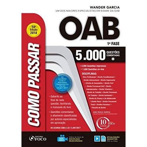 Tudo sobre 'Como Passar na OAB 1ª Fase - 5.000 Questões Comentadas'
