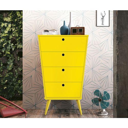 Tudo sobre 'Cômoda Prada Amarelo - Edn Móveis'