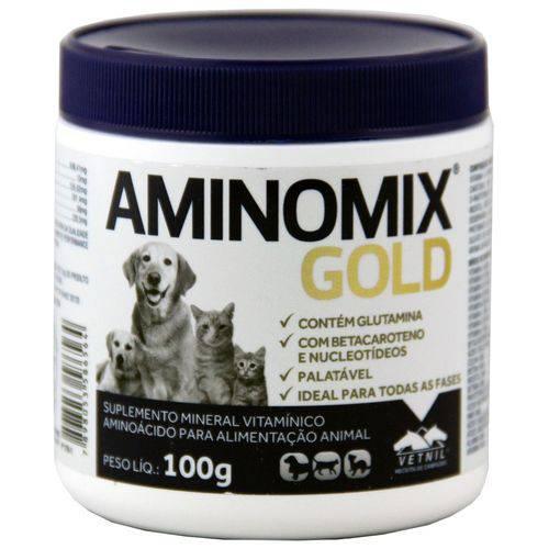 Complexo Mineral Aminomix Gold 100g Vetnil