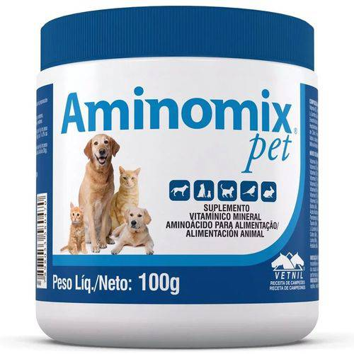Complexo Mineral Aminomix Pet 100G Vetnil