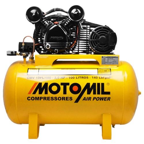 Tudo sobre 'Compressor de Ar Monofásico Bivolt Motomil CMV10PL/100'